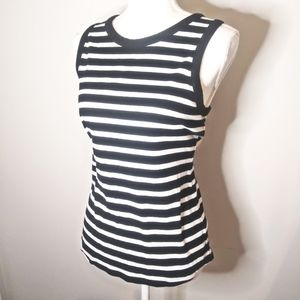 3/$20 Old Navy Black and White Striped Tank Size L